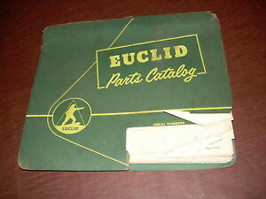 Euclid Volvo Vme 80fd 26092 Tractor Truck Hauler Parts Catalog Manual