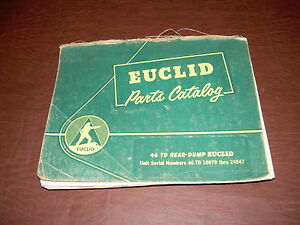 Euclid Volvo Vme 46 Td 10979 Tractor Truck Hauler Parts Catalog Manual