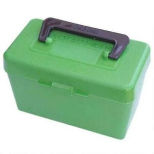 MTM Deluxe Flip-Top Ammo Box  22-250 Rem 243 & 308 Win 50-Rd  Green H50-RM-10