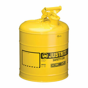 Justrite Type I Safety Fuel Can 5 gal Yellow 7150200