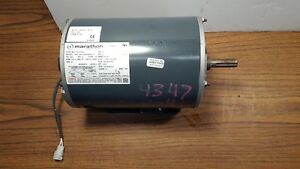 New Marathon 2 Hp 1725 Rpm Duty Cont 3 Phase 208 230 460 Volt Electric Motor