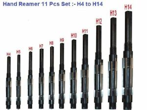 11 Pcs Set Adjustable Hand Reamer H4 To H14 15 32 1 1 2 With Dhl Shipping