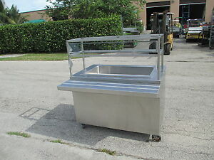 Portable Salad Raw Bar Stainless Steel Ice Chest
