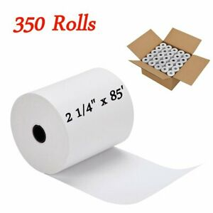 350 Rolls Cash Register Credit Card Pos Thermal Receipt Paper Label 2 1 4 X 85
