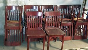 19 Wood Chairs Seating Dining Commercial Restaurant Deli Pizza Used
