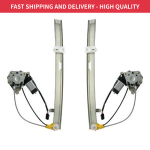 Pair Of Window Regulators With Motor Rear Right Left For Jeep Liberty 02 2007
