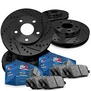 For 2014 2016 Acura Mdx Full Kit Pbr Axxis Drill Slot Brake Rotors Ceramic Pads