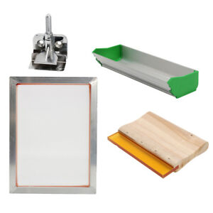 Silk Screen Printing Machine Press Kit Scoop Coater For T shirt Diy Printer