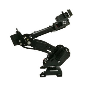 Metal Smart 8 Dof Robotic Robot Mechanical Arm Kit Diy Arduino Black