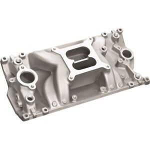 Professional Products 52028 Sbc Chevy Crosswind Air Gap Satin Aluminum Intake