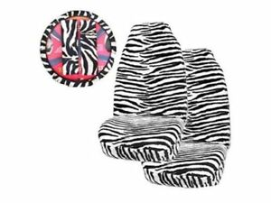Zebra Front Seat Covers Steering Wheel Cover Shoulder Pads