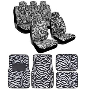 12 piece Animal Print Automotive Interior Gift Set 2 Universal fit Zebra
