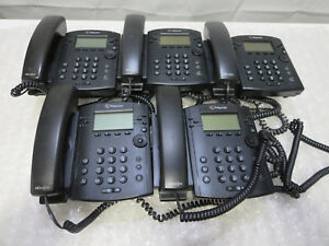 Lot Of 5 Polycom Vvx300 Voip Business Media Phone W Hd Voice Handset No Stands