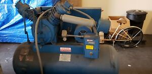 Buckey Boiler Co Air Compressor 10hp 230 460v 120 Gal With 150 Gal Spare Tank