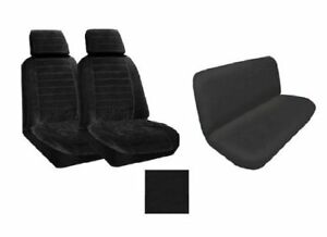 A Set Of 2 Universal Fit Low Back Encore Pattern Front Bucket Seat Cover And