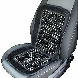 Wood Bead Seat Cover Massage Cool Premium Grey Comfort Cushion Reduces Fatigue