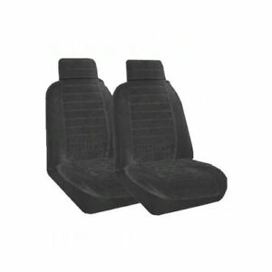 Set Of 2 Universal Fit Low Back Encore Pattern Front Bucket Seat Cover