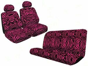 Safari Animal Print Universal Fit Bench Seat Cover And Set Of 2 Low Back