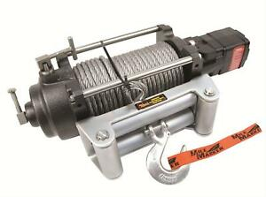 Two 2 Mile Marker Hydraulic Winch 12000 Lbs 3 8 x100 Line Roller Fairlead