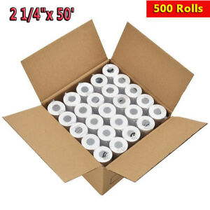 500 Rolls 2 1 4 X 50 Thermal Receipt Paper Roll For Mobile Pos Thermal Printer