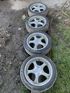 Set Of Four 4 Konig 18 Inch Rims And Tires