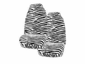 2 Animal Print Front Cover For Suv Truck Seat With Armrest Zebra