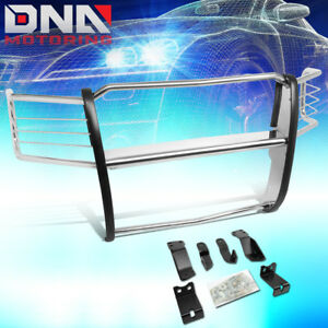 For 2014 2018 Chevy Silverado Polished Front Bumper Grille Brush Guard Protector