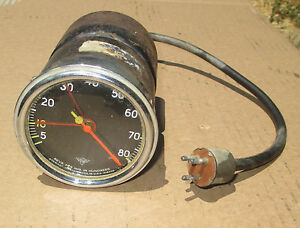 Vintage Stewart Warner 8k Model 760 Tach Ford Flathead Rat Hot Rod Curved Glass