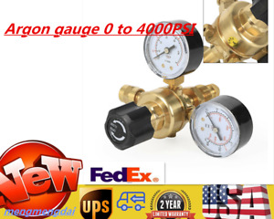 4000psi Argon Co2 Gas Mig Tig Flow Meter Regulator Pressure Control Gauge Welder