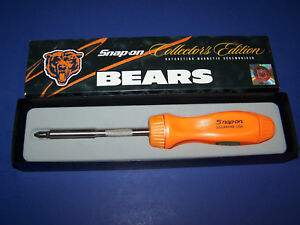 New Snap on Tools Chicago Bears Nfl Hard Handle Ratcheting Screwdriver Ssdmr4b