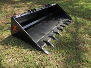 Mtl Attachments Track Loader Xhd 80 Long Bottom Tooth dirt Bucket Skid Steer