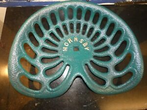 2nd Hornsby Vintage Cast Iron Tractor Implement Seat Farm Collectables