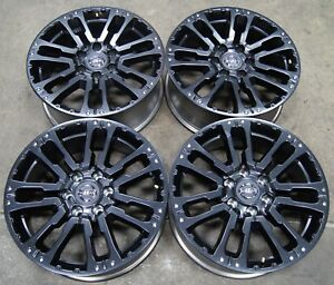 Nissan Titan Sv 20 Aluminum Black Factory Oem Wheels Rims 07 19 62754