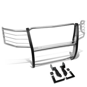 1 5 Bar Stainless Tubular Front Bumper Brush Guard For 11 14 Chevy Silverado