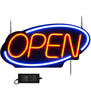 Big Horizontal Neon Open Sign Light Opening Restaurant Bar Light 23 6 x11 8
