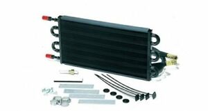Derale Heavy Duty Tube Fin Transmission Cooler 7 625 H X 17 5 W 6 An In Out