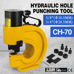Ch 70 Hydraulic Hole Punching 35t Tool Puncher Flat Seat Iron Plate 3 4 Good