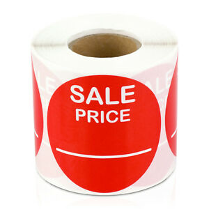 Sale Price Labels Garage Flea Market Blank Clearance Retail Stickers 10 Rolls