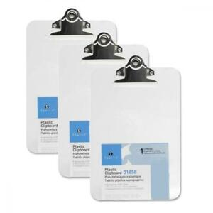 3 Mini Clipboards Sparco Transparent 6 X 9 Plastic Clear