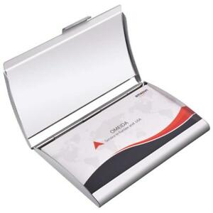 Maxgear Metal Business Card Holder Stainless Steel Case With Aluminum Curved