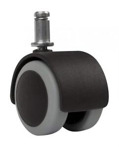 Slipstick Cb680 2 Inch Floor Protecting Rubber Office Chair Caster Wheels