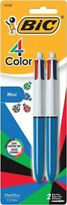 Bic 4 color Mini Ballpoint Pen Medium Point 1 0mm Assorted Inks 2 count