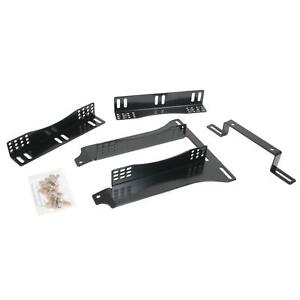 Two 2 Summit Racing Seat Bracket Fixed Mount Steel Black Ford G11507904