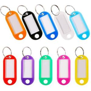 30 Pcs Key Tags Luggage Id Labels Write On Identify With Split Ring 10