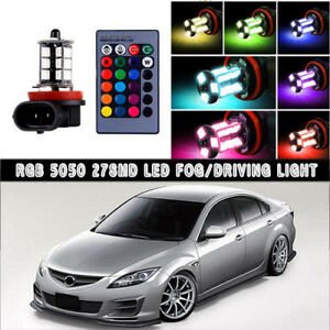 2x Multi Color Rgb Led Fog Lights Wireless Ir Remote Kit For Mazda 6 2006 2017