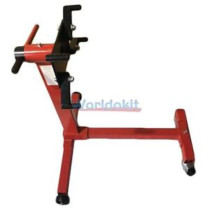 Shop Engine Stand 1000lb Pro Hoist Automotive Lift Rotating 4 Leg Type Motor Red