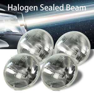 4 Headlight Bulb Hi lo Beam Halogen For Ford Country Sedan Squire Fairlane Ranch
