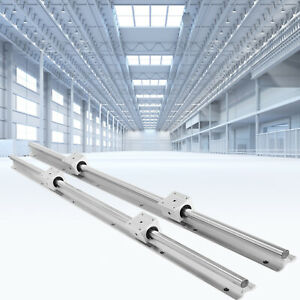 2pcs Sbr20 Slide Guide Rod 650 2200mm Linear Rail 4pcs Sbr20uu Bearing