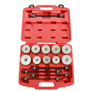 27pc Universal Press And Pull Sleeve Kit Bush Bearing Removal Insertion Tool New