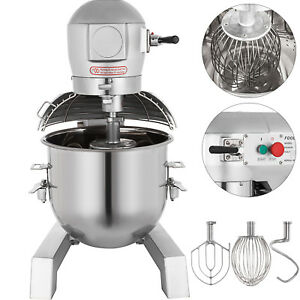 30qt 1 5hp Kitchen Electric Food Stand Mixer With 3 Speed Stainless Steel Bowl